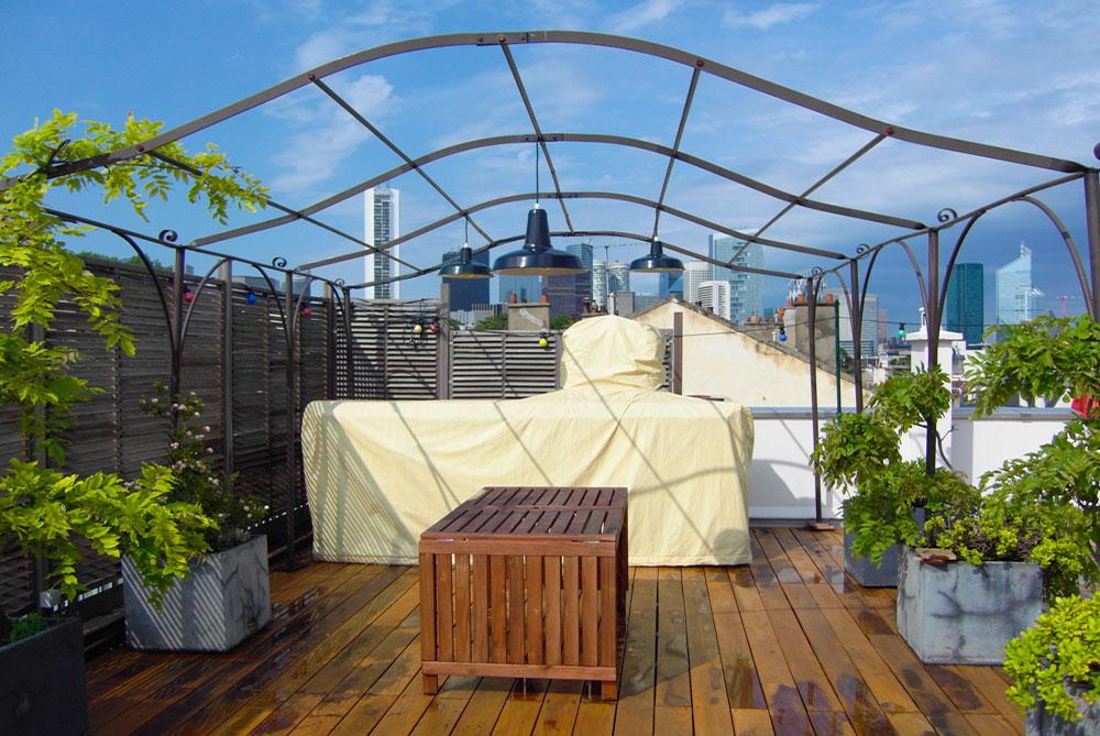 Terrasse en bois ou en carrelage Pose de pavés Arrosage automatique Éclairage extérieur Aménagement de jardins Colombes-92-atelier-pascal-noyere